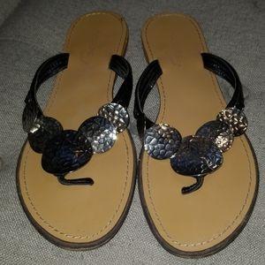 🍀Silver medallion sandals